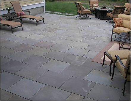 Multicolor Thermal Bluestone Patio
